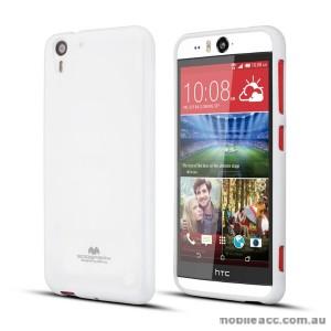 Korean Mercury Pearl TPU Case Cover for HTC Desire Eye - White