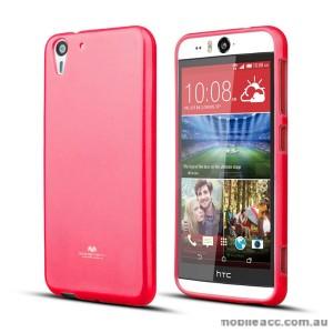 Korean Mercury Pearl TPU Case Cover for HTC Desire Eye - Hot Pink