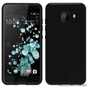 Soft TPU Gel Jelly Case For HTC U Ultra Jet Black