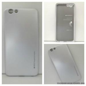 Mercury Goospery iJelly Gel Case For Oppo F1S - Silver