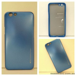 Mercury Goospery iJelly Gel Case For Oppo F1S - Blue