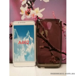 TPU Gel Case Cover For Telstra 4GX Plus/ZTE Blade A462 × 2 - Dark Grey