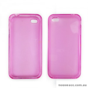 TPU Gel Case Cover for iPhone 4 / 4S - Pink / Purple