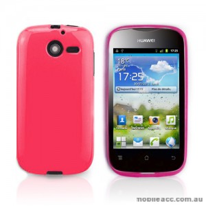 TPU Gel Case for Telstra Huawei Ascend Y201 - Hot Pink