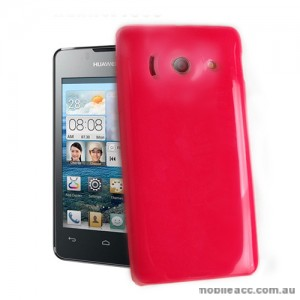 TPU Gel Case for Telstra Huawei Ascend Y300 - Hot Pink