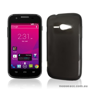 Telstra Evolution T80 TPU Gel Case Cover - Smoke Black