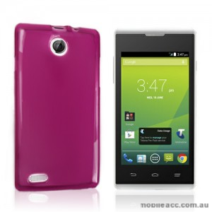 Telstra Tempo T815 TPU Gel Case Cover - Hot Pink