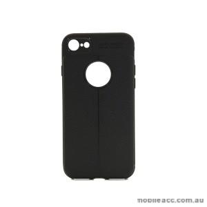 TPU PU Leather Back Case For Telstra Google Pixel 2 - Black