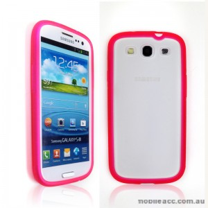 TPU   PC Case for Samsung Galaxy S3 i9300 - Hot Pink