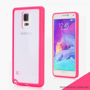 TPU PC Back Case for Samsung Galaxy Note 4 - Hot Pink