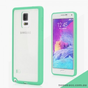 TPU PC Back Case for Samsung Galaxy Note 4 - Green