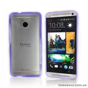 TPU   PC Case for HTC One M7 - Purple