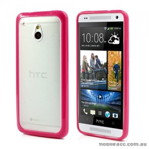 TPU   PC Case for HTC One mini M4 - Pink