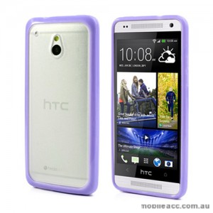 TPU   PC Case for HTC One mini M4 - Purple