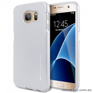 Mercury Goospery iJelly Gel Case For Samsung Galaxy S7 - Silver