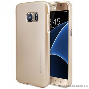 Mercury Goospery iJelly Gel Case For Samsung Galaxy S7 - Gold
