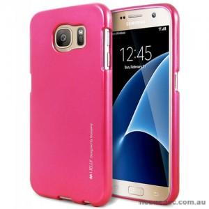 Mercury Goospery iJelly Gel Case For Samsung Galaxy S7 - Hot Pink