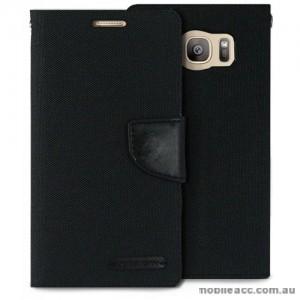 Korean Mercury Canvas Diary Wallet Case For Samsung Galaxy S7 Edge - Black