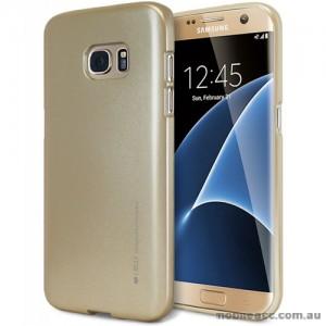 Mercury Goospery iJelly Gel Case For Samsung Galaxy S7 Edge - Gold