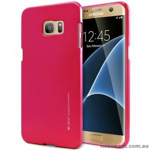 Mercury Goospery iJelly Gel Case For Samsung Galaxy S7 Edge - Hot Pink