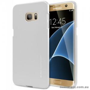 Mercury Goospery iJelly Gel Case For Samsung Galaxy S7 Edge - Silver