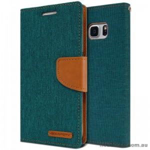 Korean Mercury Canvas Diary Wallet Case For Samsung Galaxy Note 7 -  Green