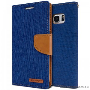 Korean Mercury Canvas Diary Wallet Case For Samsung Galaxy Note 7 -  Royal Blue