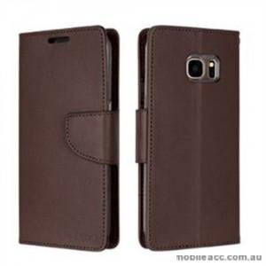 Korean Mercury Bravo Diary Wallet Case For Samsung Galaxy Note 7 - Brown