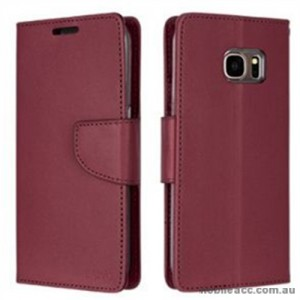 Korean Mercury Bravo Diary Wallet Case For Samsung Galaxy Note 7 - Ruby Wine