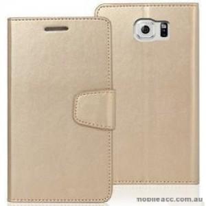 Korean Mercury Bravo Diary Wallet Case For Samsung Galaxy Note 7 - Gold