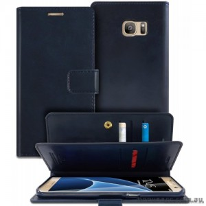 Mercury Mansoor Diary Double Sided Wallet Case for Samsung Galaxy Note 7 - Navy