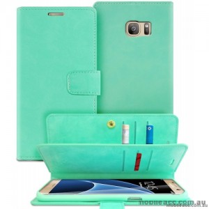 Mercury Mansoor Diary Double Sided Wallet Case for Samsung Galaxy Note 7 - Mint