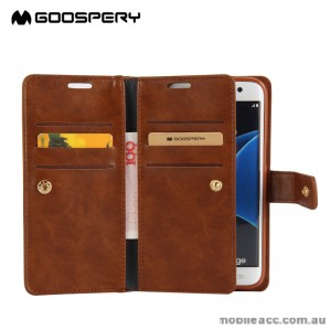 Mercury Mansoor Diary Double Sided Wallet Case for Samsung Galaxy Note 7 - Brown