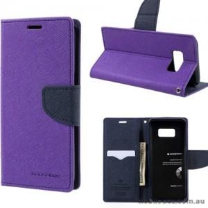 Korean Mercury Fancy Diary Wallet Case For Samsung Galaxy S8 - Purple