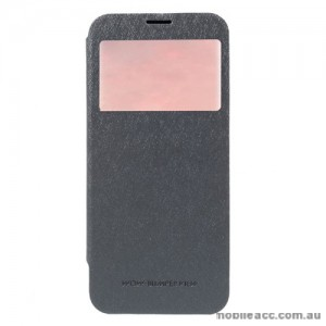 Korean Mercury WOW Window View Flip Cover For Samsung Galaxy S8 - Grey