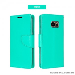 Mercury Goospery Bravo Diary Wallet Case For Samsung Galaxy S8 Plus - Mint Green