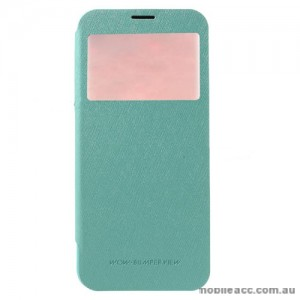 Korean Mercury WOW Window View Flip Cover For Samsung Galaxy S8 Plus - Mint Green