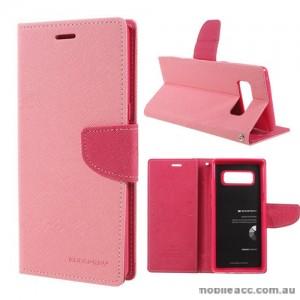 Korean Mercury Fancy Diary Wallet Case For Samsung Galaxy Note 8 - Light Pink
