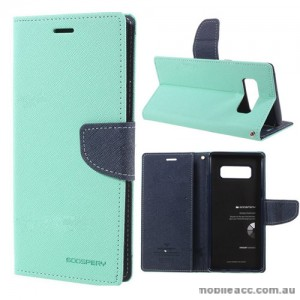 Korean Mercury Fancy Diary Wallet Case For Samsung Galaxy Note 8 - Mint