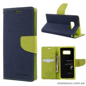 Korean Mercury Fancy Diary Wallet Case For Samsung Galaxy Note 8 - Navy