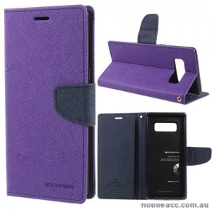 Korean Mercury Fancy Diary Wallet Case For Samsung Galaxy Note 8 - Purple