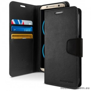 Mercury Goospery Sonata Diary Stand Wallet Case For Samsung Galaxy Note 8 - Black