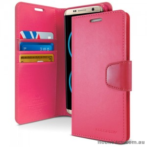 Mercury Goospery Sonata Diary Stand Wallet Case For Samsung Galaxy Note 8 - Hot Pink