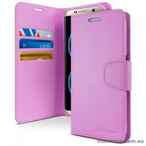 Mercury Goospery Sonata Diary Stand Wallet Case For Samsung Galaxy Note 8 - Purple