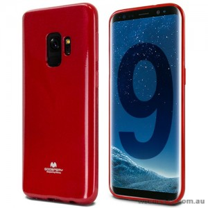 Mercury Pearl TPU Jelly Case for Samsung Galaxy S9 - Red