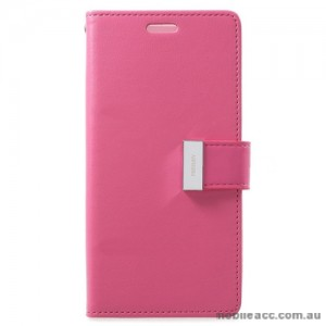 Mercury Rich Diary Wallet Case for Samsung Galaxy S9 - Hot Pink