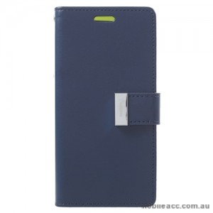Mercury Rich Diary Wallet Case for Samsung Galaxy S9 - Navy