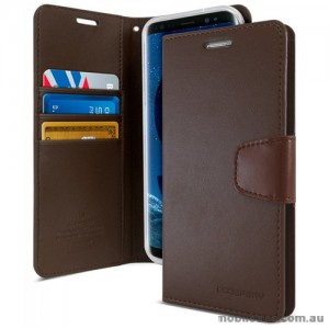 Mercury Goospery Sonata Diary Stand Wallet Case For Samsung Galaxy S9 Plus - Brown