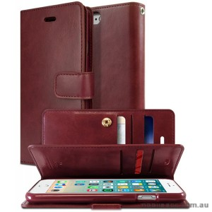 Korean Mercury Goospery Mansoor Wallet Case Cover iPhone 7/8 4.7 Inch - Ruby Wine