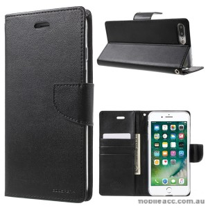 Korean Mercury Bravo Diary Wallet Case Cover For iPhone 7+/8+  5.5 inch - Black